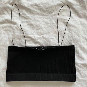 NWT black bandeau top